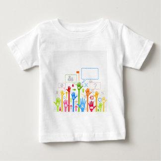 Negocio de la mano camiseta de bebé
