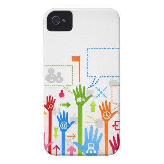 Negocio de la mano carcasa para iPhone 4 de Case-Mate