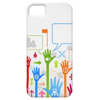 Negocio de la mano funda para iPhone SE/5/5s