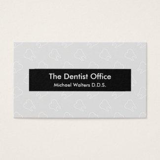 Negocio de la oficina de la odontología tarjeta de visita