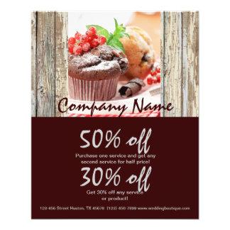 negocio de la panadería de la torta de chocolate d folleto 11,4 x 14,2 cm
