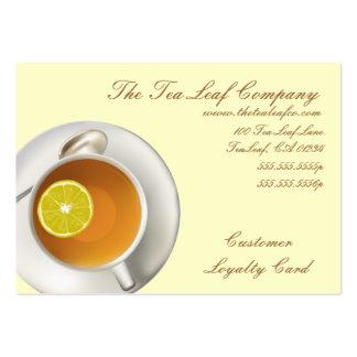 Negocio de la tienda del té de Yelllow y tarjetas Tarjetas De Visita Grandes