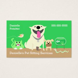 Negocio de los canguros del mascota Tarjeta-verde Tarjeta De Visita