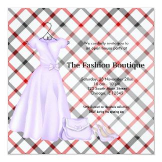 Negocio de moda de la gran inauguración (blanco) invitación 13,3 cm x 13,3cm