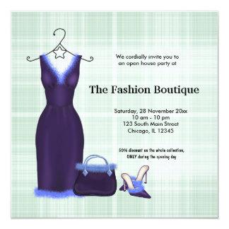 Negocio de moda de la gran inauguración invitación 13,3 cm x 13,3cm