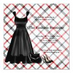 Negocio de moda de la gran inauguración (negro) comunicado personalizado