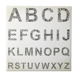 Negocio del alfabeto azulejo de cerámica