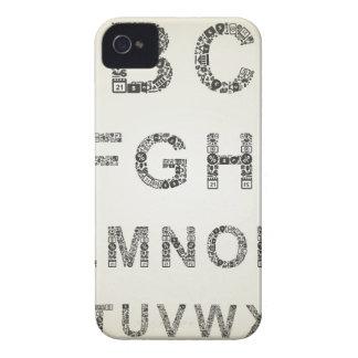Negocio del alfabeto funda para iPhone 4 de Case-Mate