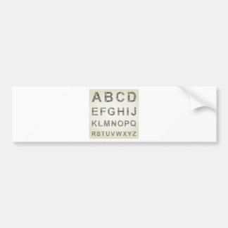 Negocio del alfabeto pegatina para coche