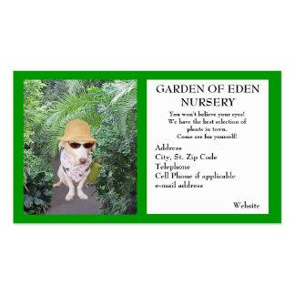 Negocio del cuarto de niños del jardín tarjetas de visita