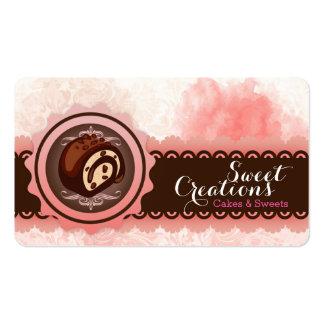 Negocio del dulce del helado de la panadería tarjetas de visita
