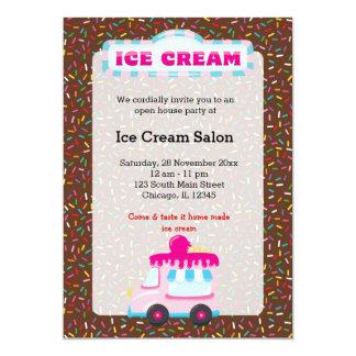 Negocio del helado invitación 12,7 x 17,8 cm