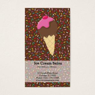 Negocio del helado tarjeta de negocios