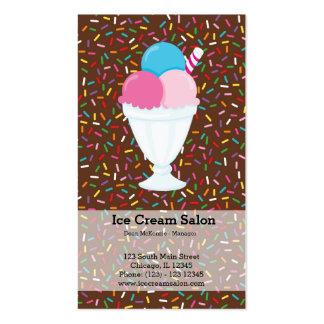 Negocio del helado tarjetas de visita