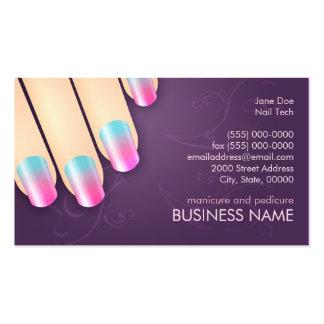 Negocio del manicuro y plantilla de la tarjeta de  tarjetas de visita