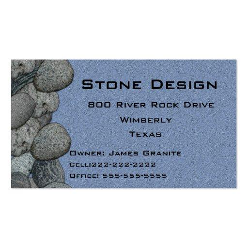 Negocio del paisaje/del albañil de piedra plantilla de tarjeta de negocio
