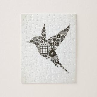 Negocio del pájaro puzzle