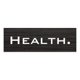 Negocio del profesional de salud Tarjeta-Flaco Plantillas De Tarjetas De Visita