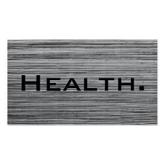 Negocio del profesional de salud Tarjeta-Gris Plantillas De Tarjetas Personales