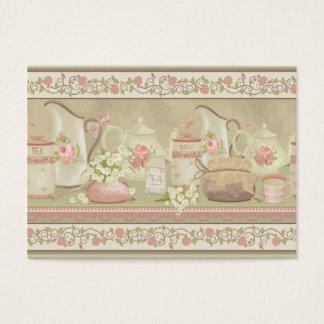 Negocio del té del vintage tarjeta de negocios