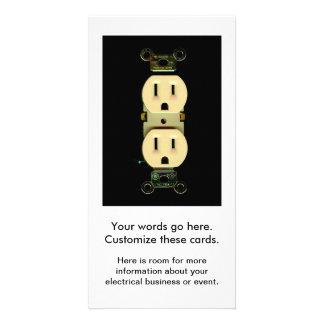 Negocio eléctrico de los electricistas del mercado tarjeta fotografica