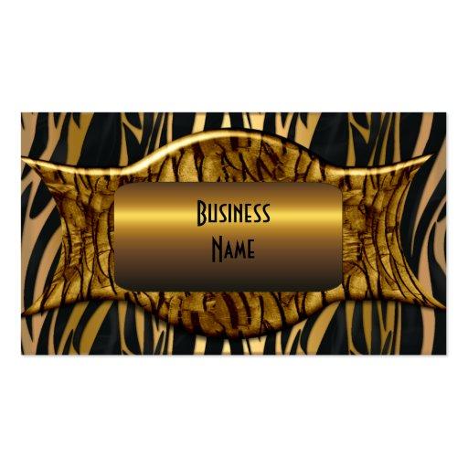 Negocio elegante del oro negro de la cebra plantillas de tarjeta de negocio