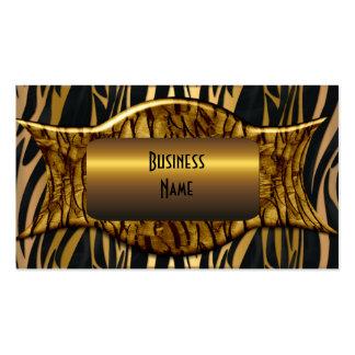 Negocio elegante del oro negro de la cebra tarjetas de visita