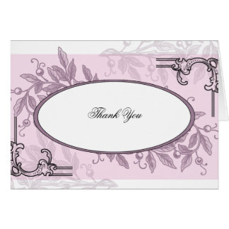 Negocio floral púrpura rosado del vintage tarjeta pequeña