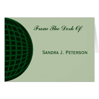 Negocio global verde tarjeta pequeña