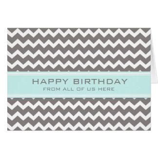 Negocio gris de Chevron del trullo del cumpleaños Felicitación