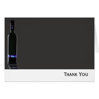 Negocio gris y negro de la botella de vino tarjeta pequeña