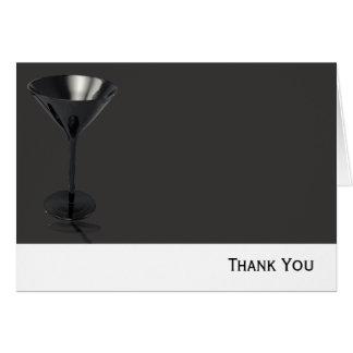 Negocio gris y negro del vidrio de Martini Tarjeta Pequeña