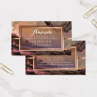 Negocio moderno de cobre del diseño interior de la tarjeta de negocios