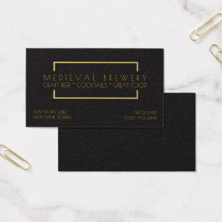 Negocio moderno de la barra del restaurante del tarjeta de negocios