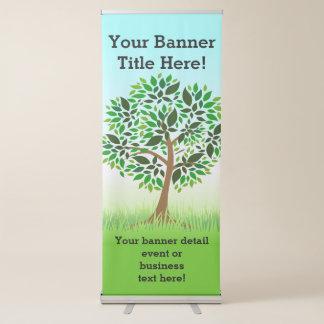 Negocio promocional de la naturaleza verde del pancartas retráctiles