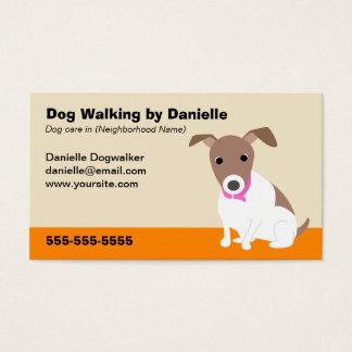 Negocio que camina del perro tarjeta de visita