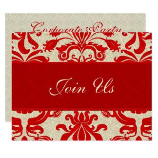Negocio rojo y de color topo de rubíes del invitación 10,8 x 13,9 cm