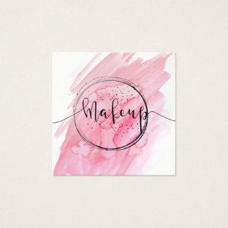 Negocio rosado hermoso del maquillaje del ★ tarjeta de visita cuadrada