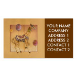 Negocio - tarjeta del perfil, - jirafa del carruse tarjetas de visita