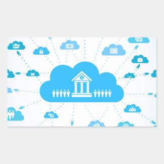 Negocio un cloud3 pegatina rectangular