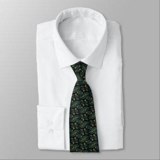 Negocio verde y azul del fractal de la curva corbata
