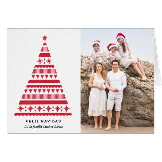 negrita tarjeta de la foto de árbol de navidad