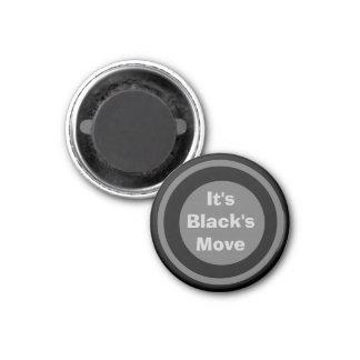 Negro 1-1/4 del marcador del ~TAG~ de los inspecto Iman De Nevera
