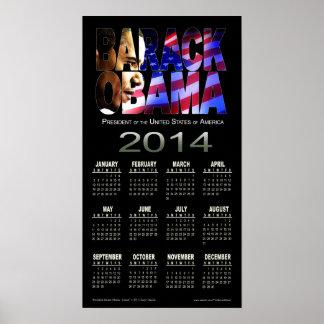 Negro 2014 del calendario el | del recorte de Bara Poster