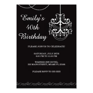 Negro adulto de la fiesta de cumpleaños de la invitación 12,7 x 17,8 cm