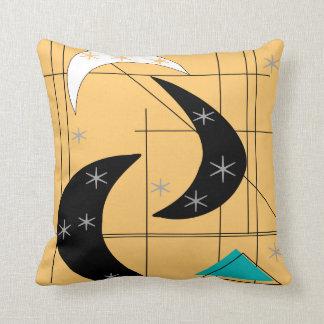 Negro amarillo atómico de la almohada moderna de