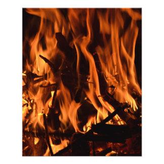 negro anaranjado b de la naturaleza de madera del folleto 11,4 x 14,2 cm