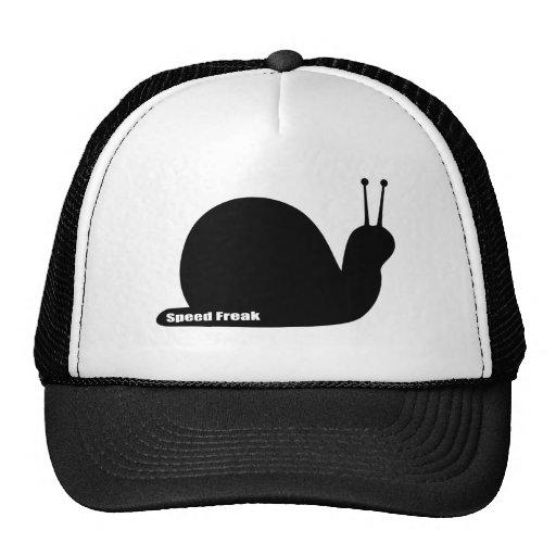 negro anormal del caracol de la velocidad gorra