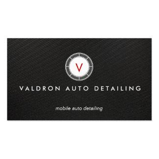 Negro auto del monograma del detalle y de la tarjetas de visita