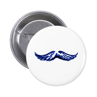 Negro azul del bigote los regalos de Zazzle del MU Chapa Redonda De 5 Cm